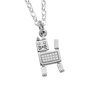 Karen Walker Robot Cat Pendant