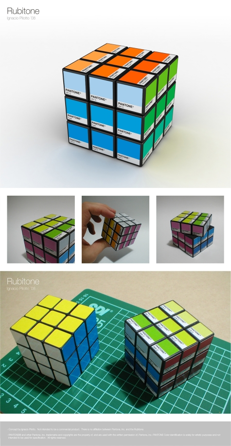 Rubitone - Rubiks Cube with Pantone Swatches